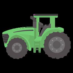Trator de rodas grandes plano