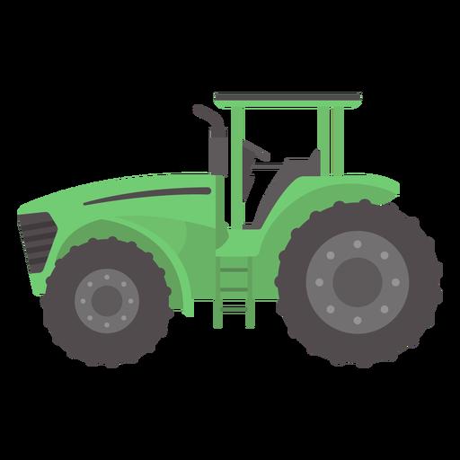 Tractor de ruedas grandes plano