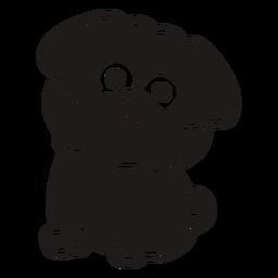 Black cute bulldog