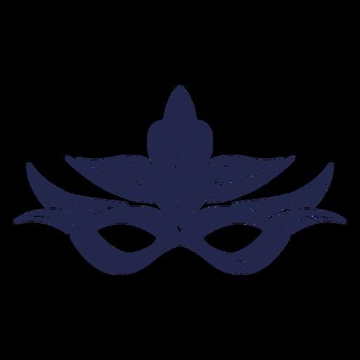 Máscara de carnaval azul