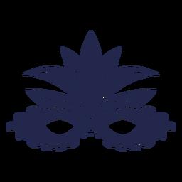 Máscara de carnaval de plumas azules