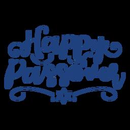 Letras de Pascua feliz azul