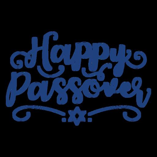 Letras de feliz pascua azul Transparent PNG