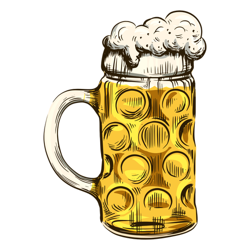 Bubbly beer in cool mug Transparent PNG