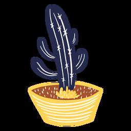 Patrones de cactus en una maceta