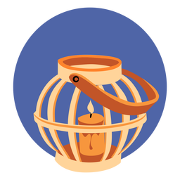 Candle in cage