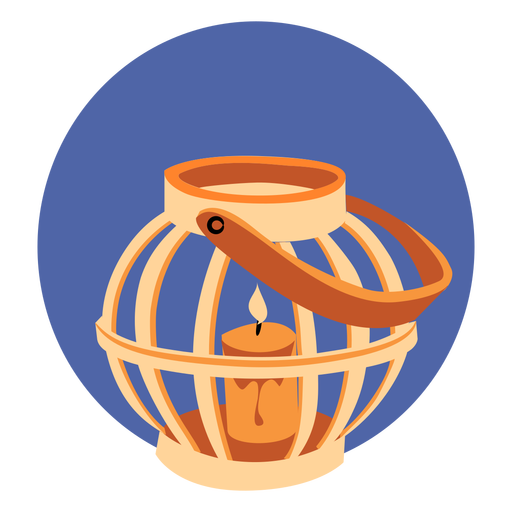 Candle in cage Transparent PNG