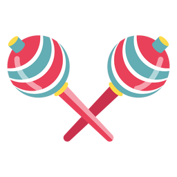 Maracas coloridas de carnaval