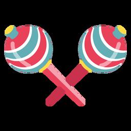 Maracas de carnaval de colores