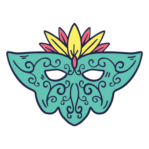 Carnival colored mask