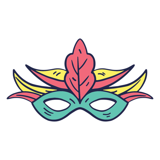Carnival mask colorful Transparent PNG