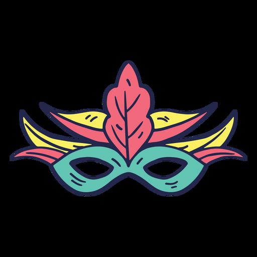 Máscara de carnaval colorida