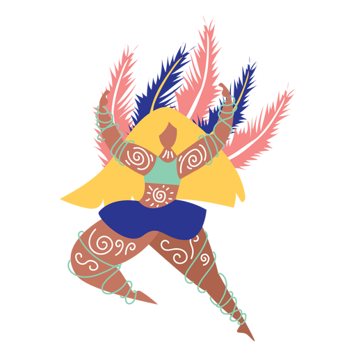 Carnaval mujer coloreada