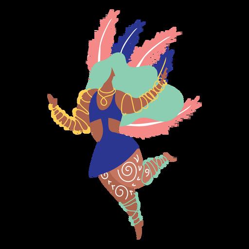 Carnival woman dancing