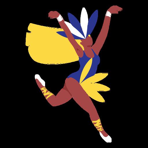 Carnaval mujer elegante salto