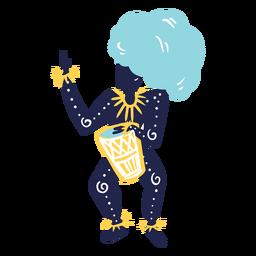 Mujer de carnaval con tambor