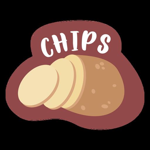 Etiqueta de despensa de patatas fritas