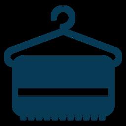 Percha de ropa azul