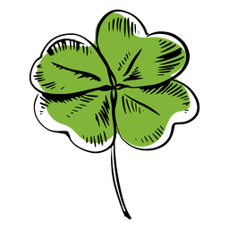 Clover leaf drawn