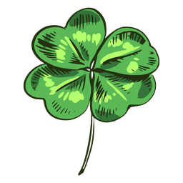 Hoja de trébol dibujado verde