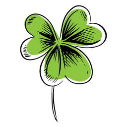 Clover leaf simple drawn