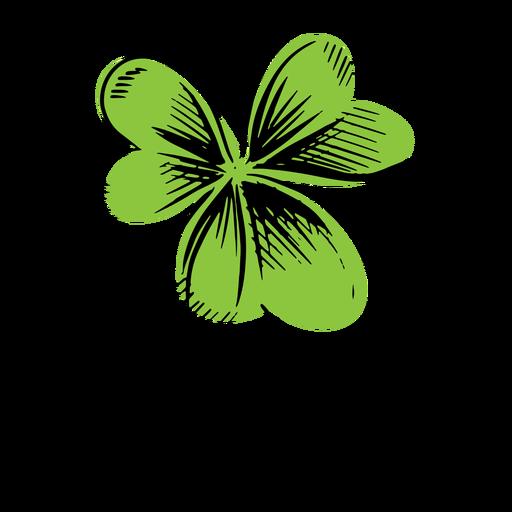 Clover leaf simple drawn