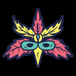 Máscara de carnaval de aves de colores