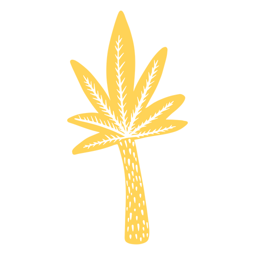 Colored palm tree Transparent PNG