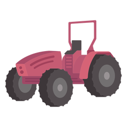 Tractor de color plano