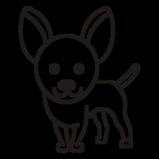 Lindo trazo de perro chihuahua
