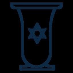 Curso de ícone de copo de vinho estrela de David