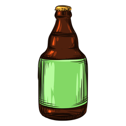 Drawn beer bottle