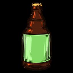 Drawn beer bottle