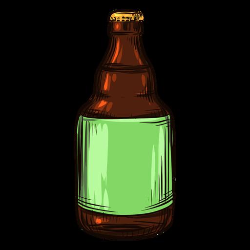 Gezeichnete Bierflasche