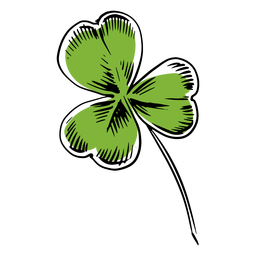 Drawn clover leaf