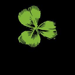 Drawn clover leaf
