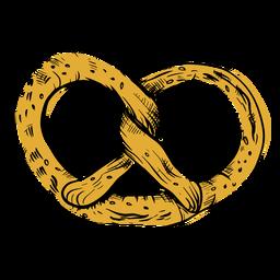 Dibujado pretzel twirly