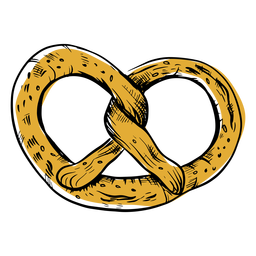 Drawn twirly pretzel