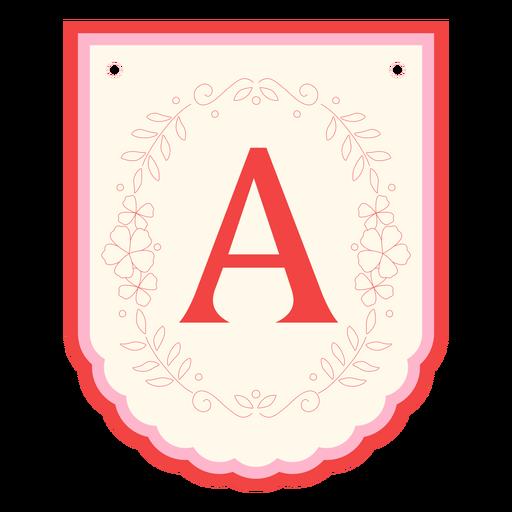 Guirnalda floral banner letra a