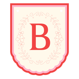 Guirlanda floral bandeira letra b