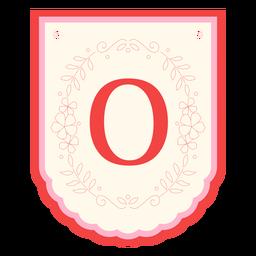 Floral garland banner letter o