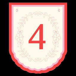 Banner de guirnalda floral número 4