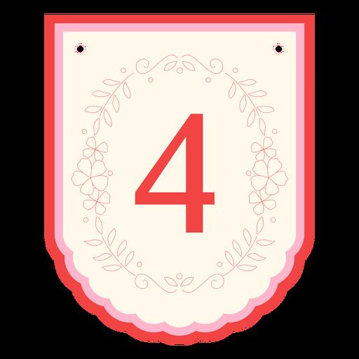Floral garland banner number 4
