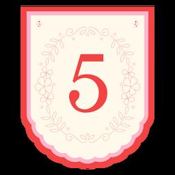 Floral garland banner number 5