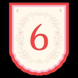Floral garland banner number 6