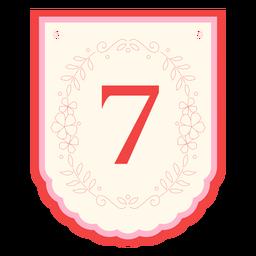 Banner de guirnalda floral número 7