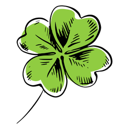 Four leaf clover drawn