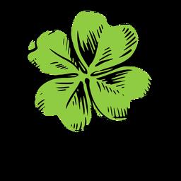 Trébol de cuatro hojas dibujado