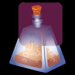 Recipiente de poción de vidrio
