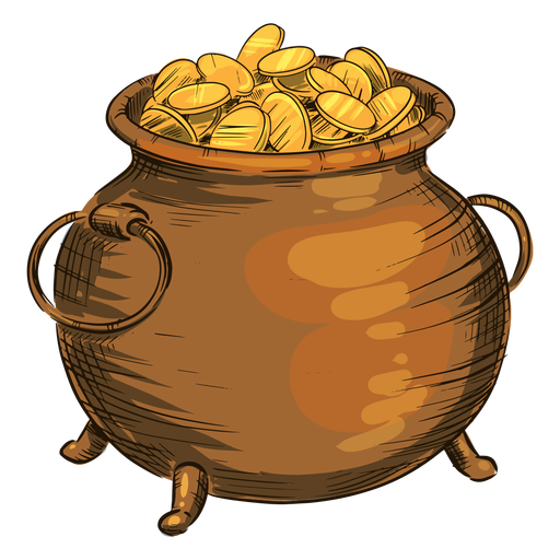 Olla de monedas de oro
